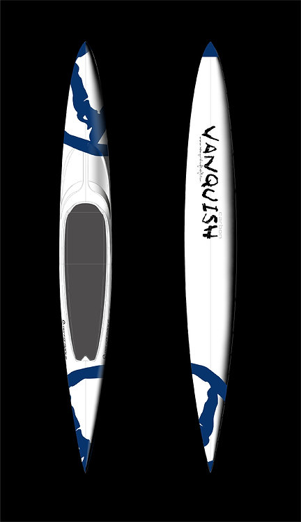 VANQUISH V16' CARBON PRONE PERFORMANCE PADDLEBOARD WHITE BLUE V