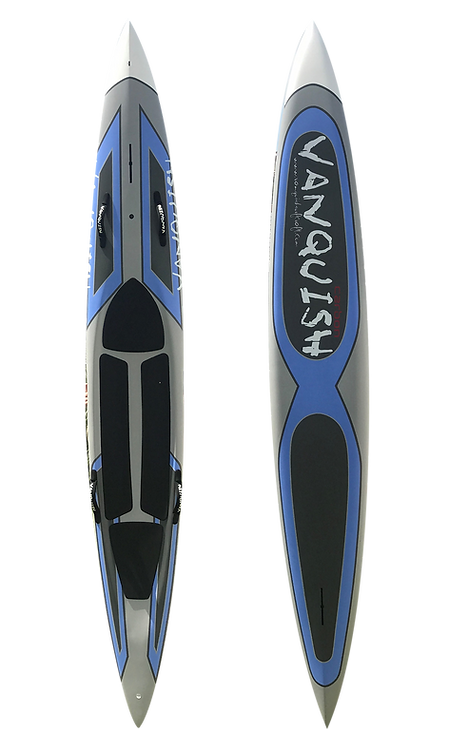 VANQUISH V12' CARBON PRONE PADDLEBOARD  BLUE STEALTH