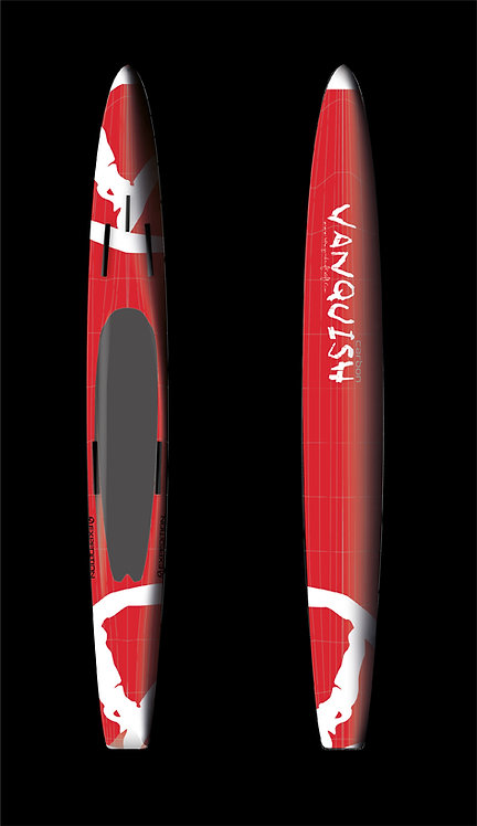 VANQUISH V16' CARBON PRONE EXPEDITION PADDLEBOARD RED WHITE V