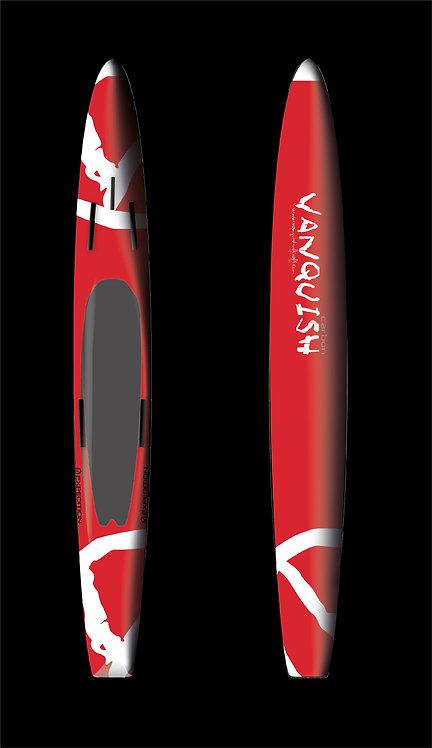 VANQUISH V14' CARBON PRONE EXPEDITION PADDLEBOARD RED WHITE V