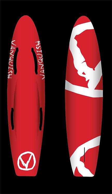 VANQUISH 6'6 NIPPER BOARD RED WHITE V
