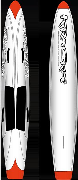 """KRACKA 10'6"""" RACEBOARD WHITE FLOW"""
