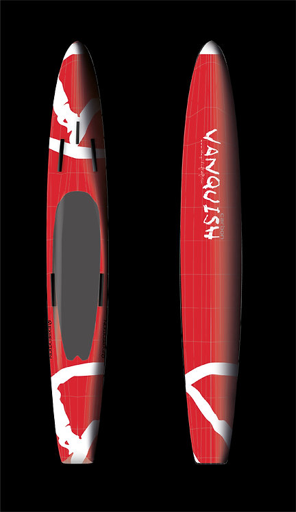 VANQUISH V12' CARBON PRONE EXPEDITION PADDLEBOARD RED WHITE V