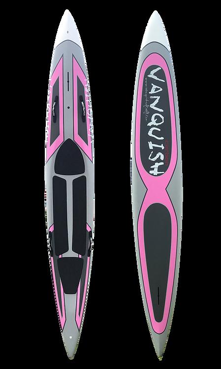 VANQUISH V12' CARBON PRONE PADDLEBOARD  PINK STEALTH