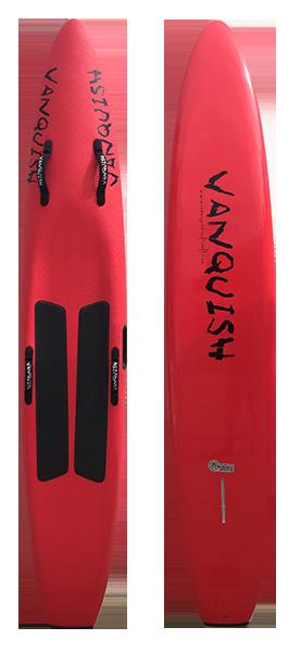 VANQUISH 8'10 NIPPER BOARD RED SOLID
