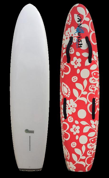 VANQUISH 6'6 NIPPER BOARD RED FLORAL