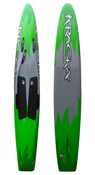 "KRACKA 10'6"" RACEBOARD GREEN GREY FLAME"