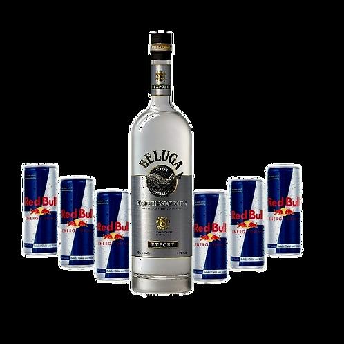 Beluga Vodka 0,7l + 6x Red Bull
