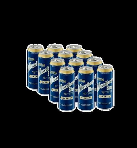 12er Pack Wieselburger Gold 0,5l Dose