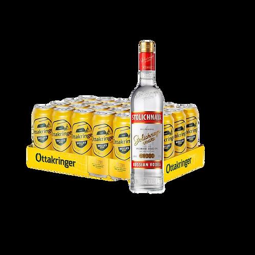 Vodkakringer Stolichnaya 0,7l + 24x Ottakringer 0,5l