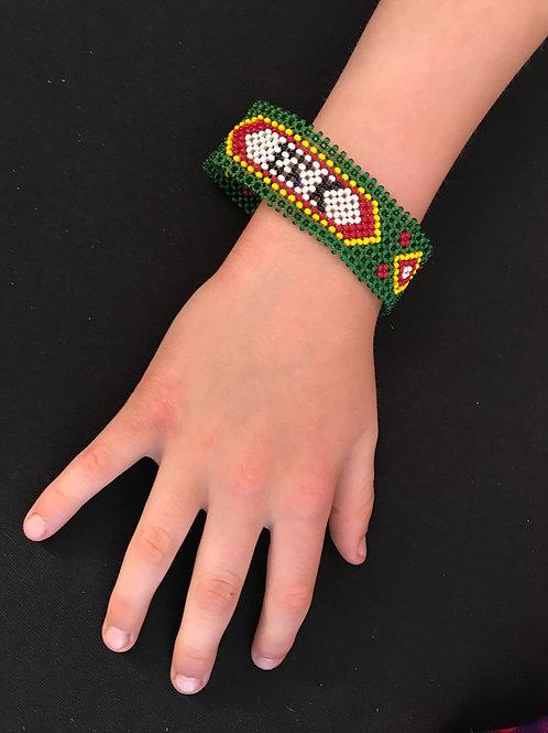 """7"""" Green Beaded Bracelet"""