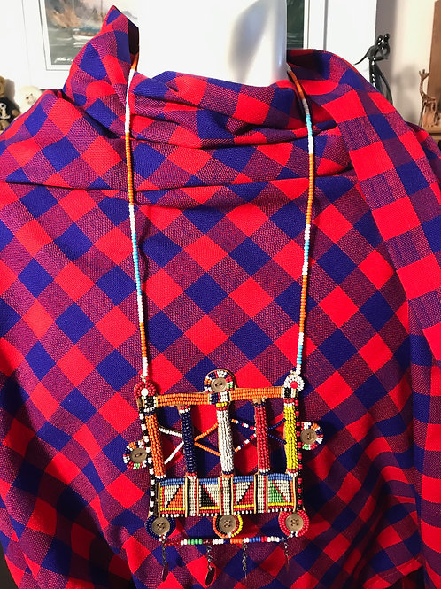 "27"" Beaded Square Necklace"