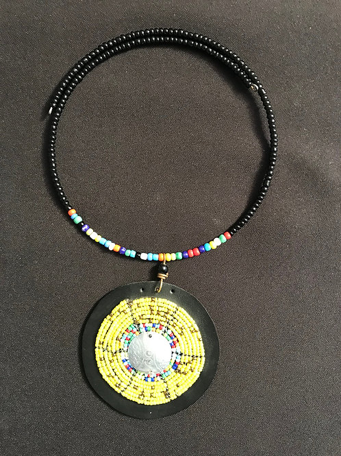 "20"" Black and Yellow Necklace"