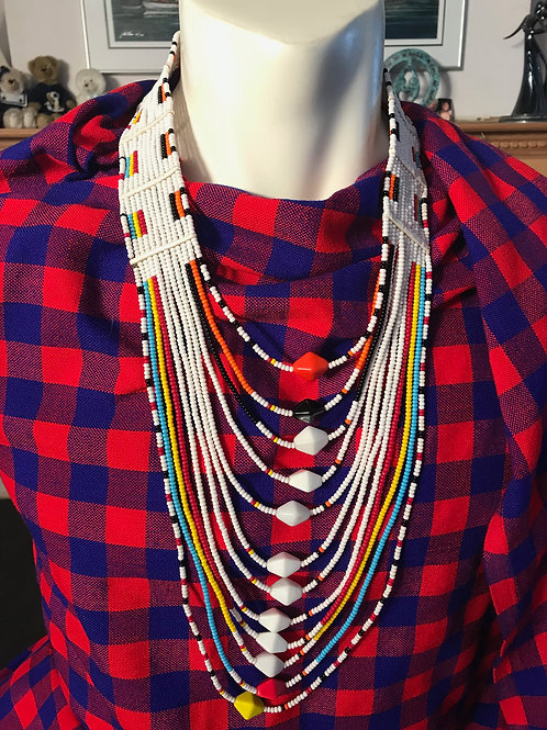 "26""-38"" White Necklace"