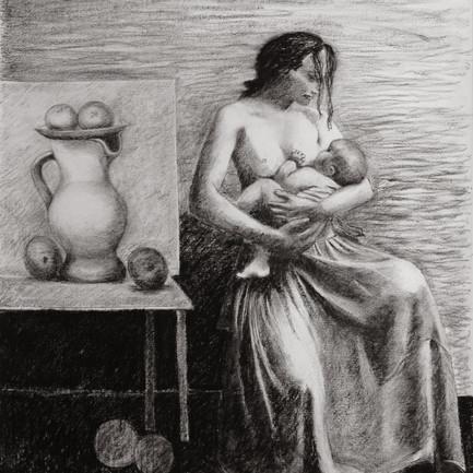 Maternité. Hommage à Picasso