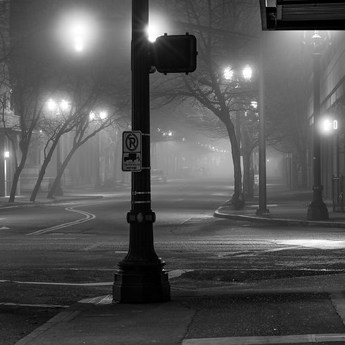 """""""Foggy Intersection - PDX"""" - Rory ONeal"""
