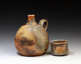 Small Spirit Bottle with Cup Lid