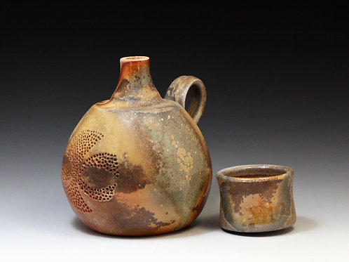 """""""Small Spirit Bottle with Cup Lid"""" - Mandy Stigant"""