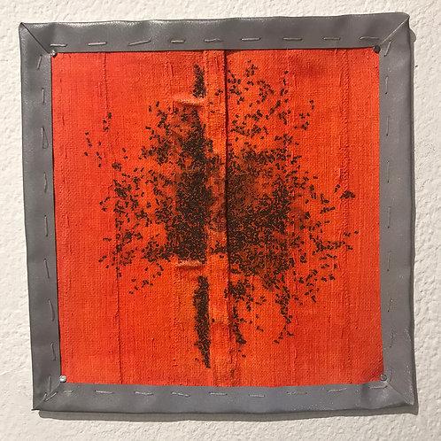 Small Red-Orange Flag with gunpowder