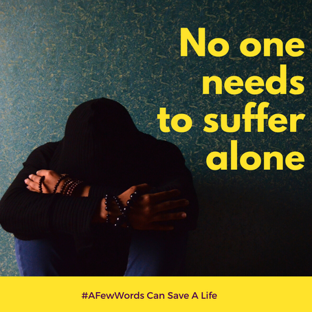 #AFewWords Can Save A Life