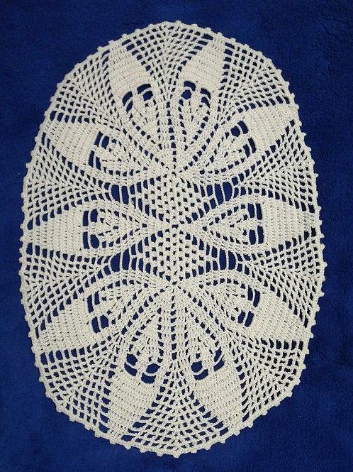 Vintage Lace Tablecloth 34cm x 23cm