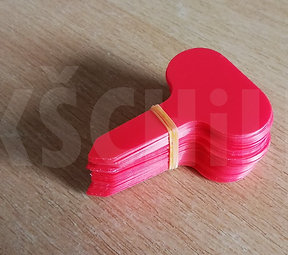 Red garden labels 10pcs
