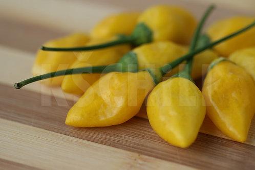 """""""Bleeding Heart Yellow"""" Pepper 8 Seeds (Capsicum Chinense)"""