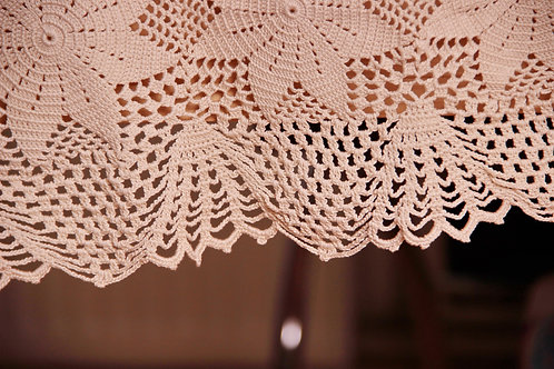 Beige Lace Tablecloth