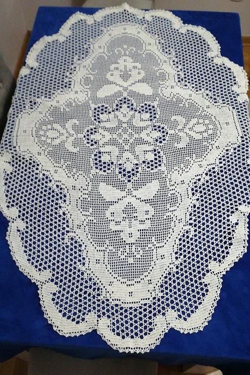 Vintage Lace Tablecloth 140cm x 100cm