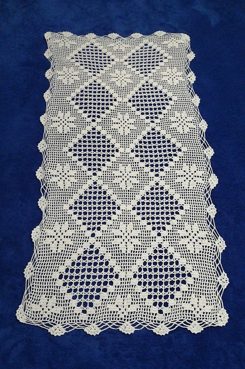 Vintage Lace Tablecloth 90cm x 45cm