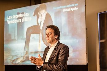Conférence de Michaël Aguilar Les Secrets des Vendeurs d'Elite.