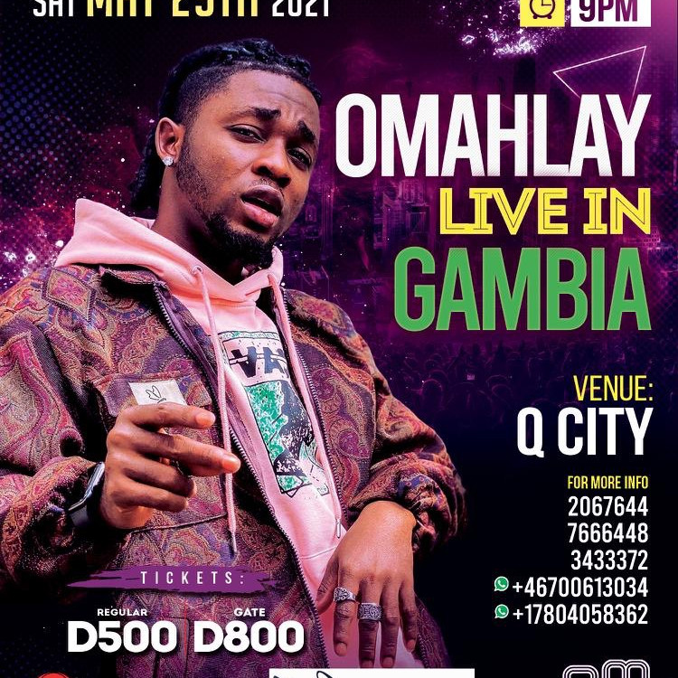 Omah Lay Live in Qcity Gambia