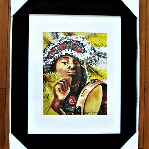 The Mardi Gras Indians Framed Print 11x14
