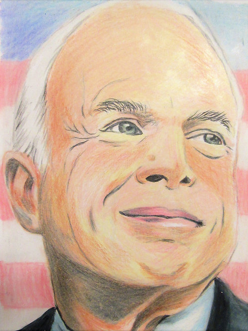 """John McCain """"The Maverick"""" Print 11x17"""