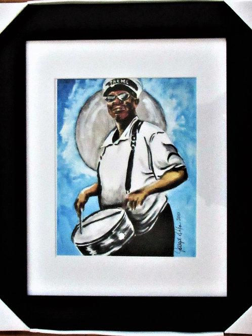 Treme Drummer Framed Print 11x14