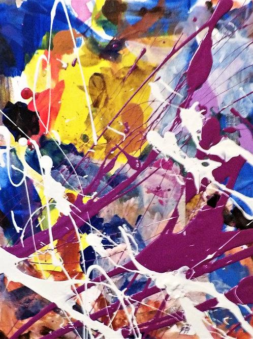 "Original Abstract ""Purple Hint #4 Size 14x11"