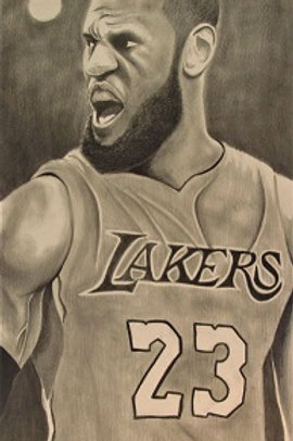 Lebron's Lakers Print 11x17