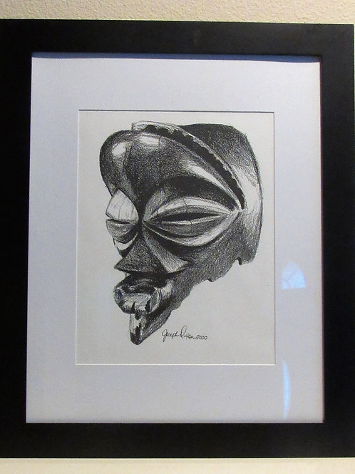 African Mask Framed Print 23 x 19