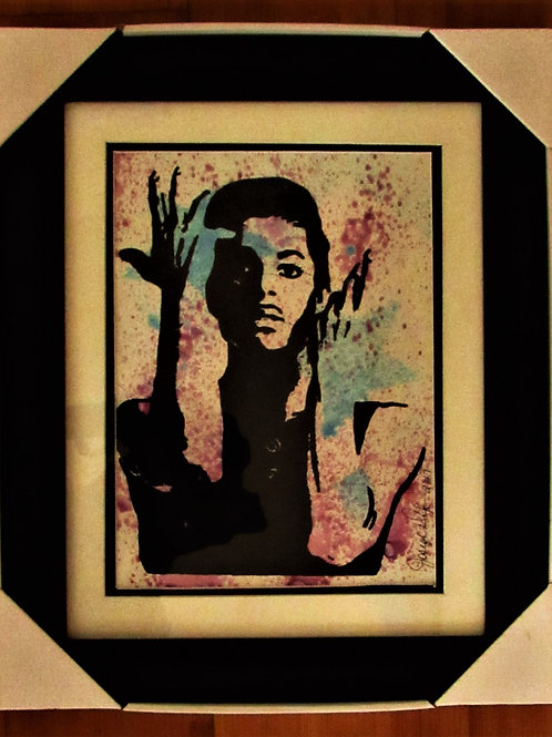 Prince Silk Screen Framed 11x14