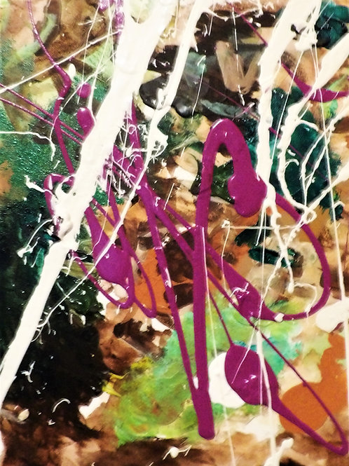 "Original Abstract ""Purple Hint #1"" Size 14x11"