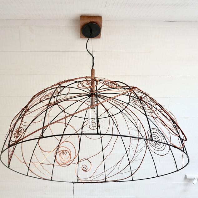 lampe | macramé de cuivre II