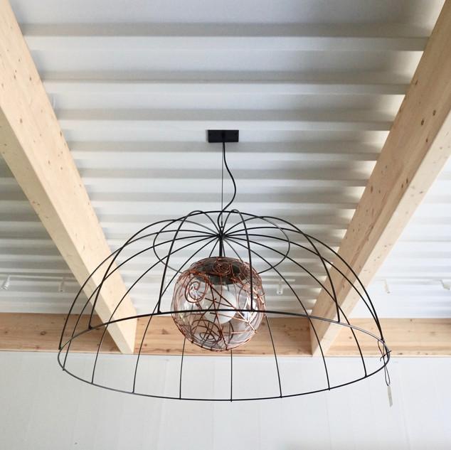 lampe | macramé de cuivre I