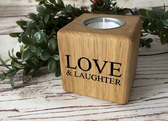 Oak Cube Tea Light Holder