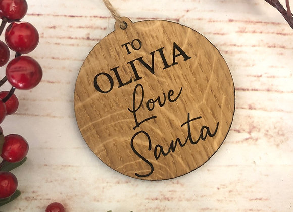 Love From Santa Christmas Decoration