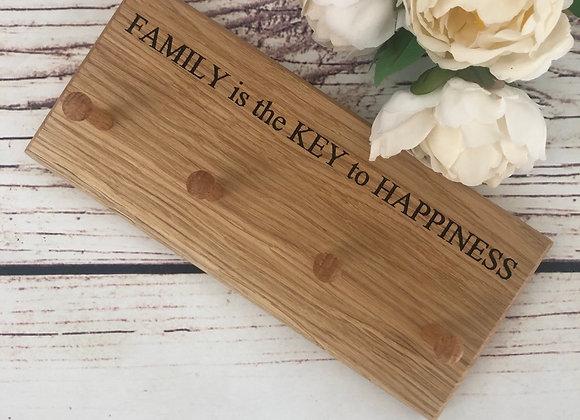 Oak Key Rack