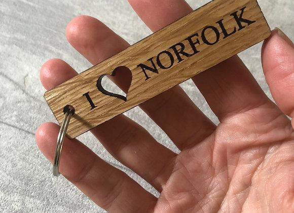 Oak Cut Out Key Ring