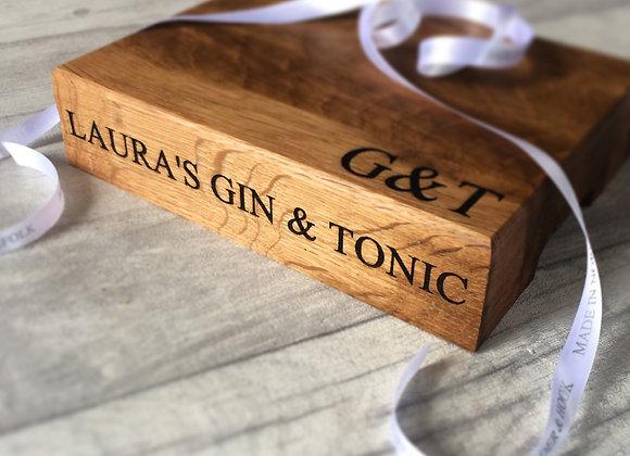 Oak G&T Bar Board