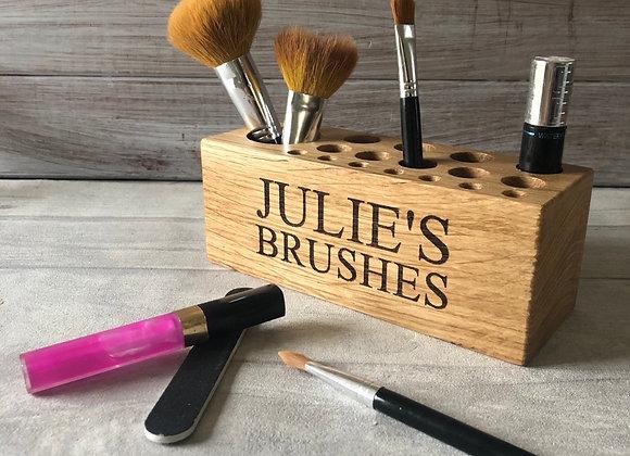 Oak Make Up Brush Holder