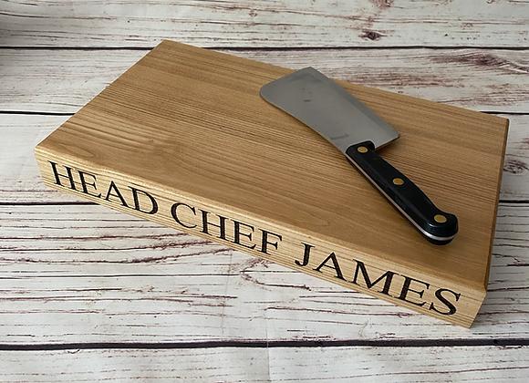 Personalised Ash Chopping Board