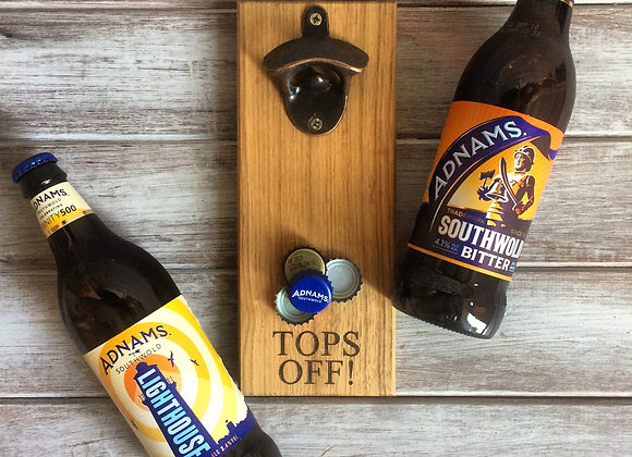 Oak Magnetic Bottle Opener
